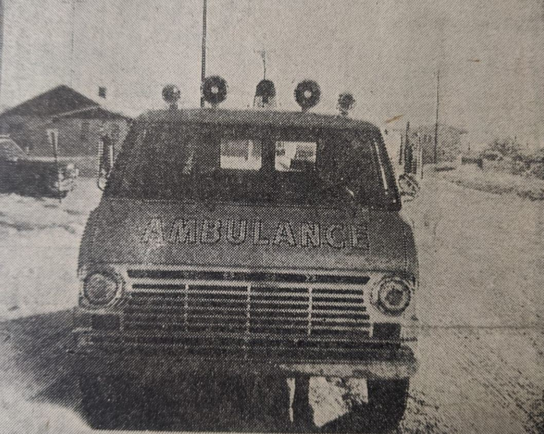 Picture of old GCEMS ambulance