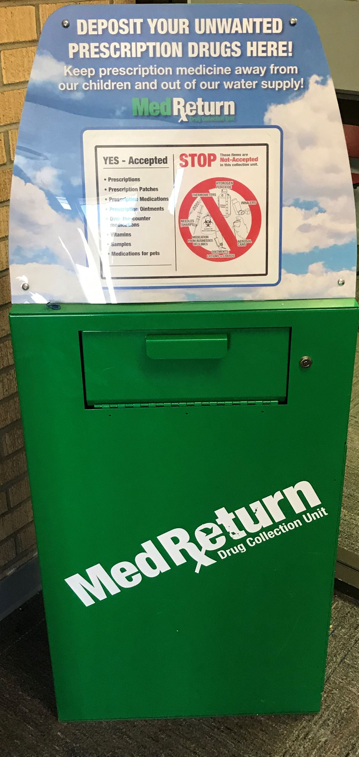 Medication Return Box Located at the Grand County Sheriff's Office